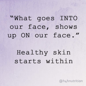 healthy skin quote
